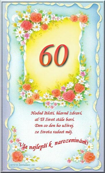 přání k 60 narozeninám 007