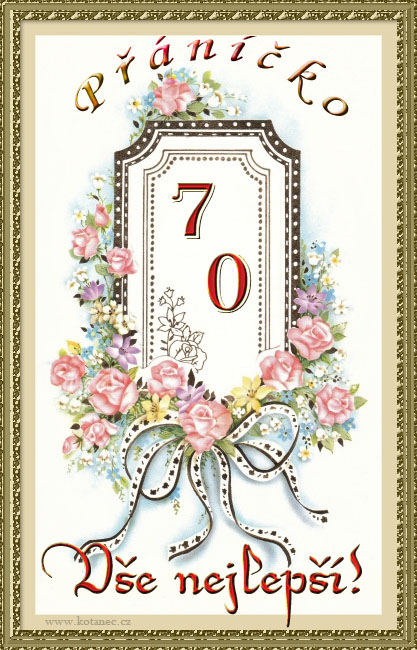 přání k 70 narozeninám 005