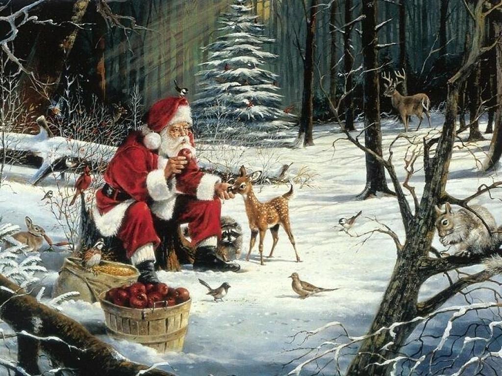 001 vánoční krajina - Christmas landscape