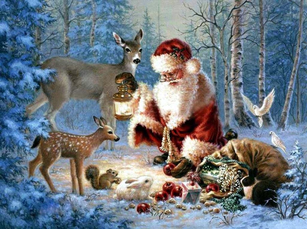 003 vánoční krajina - Christmas landscape