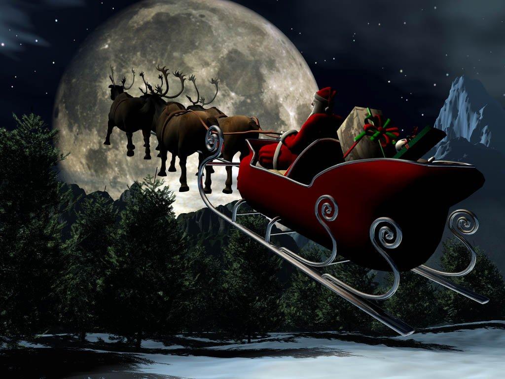 004 vánoční krajina - Christmas landscape