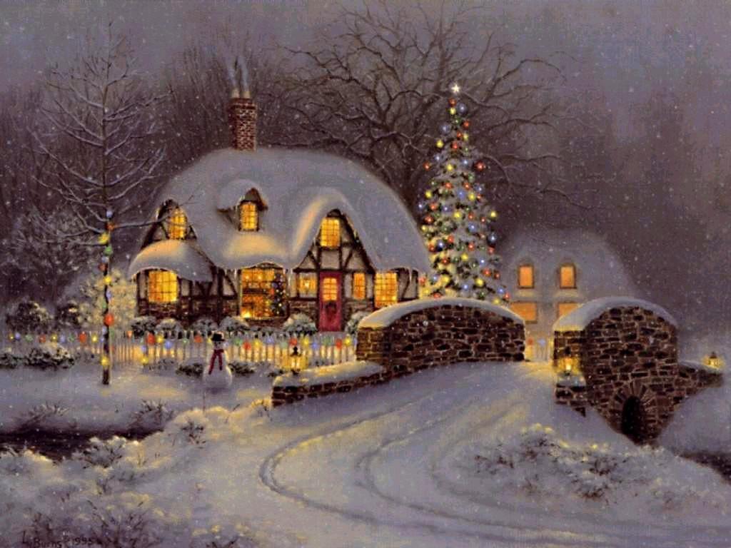 006 vánoční krajina - Christmas landscape