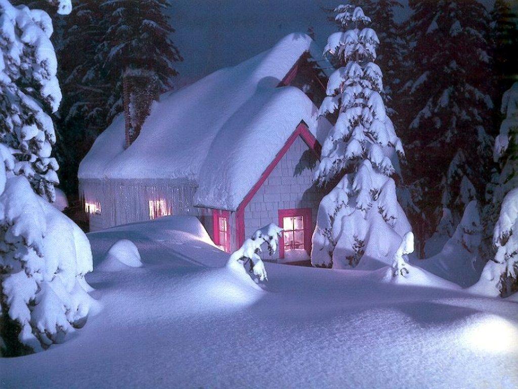 007 vánoční krajina - Christmas landscape