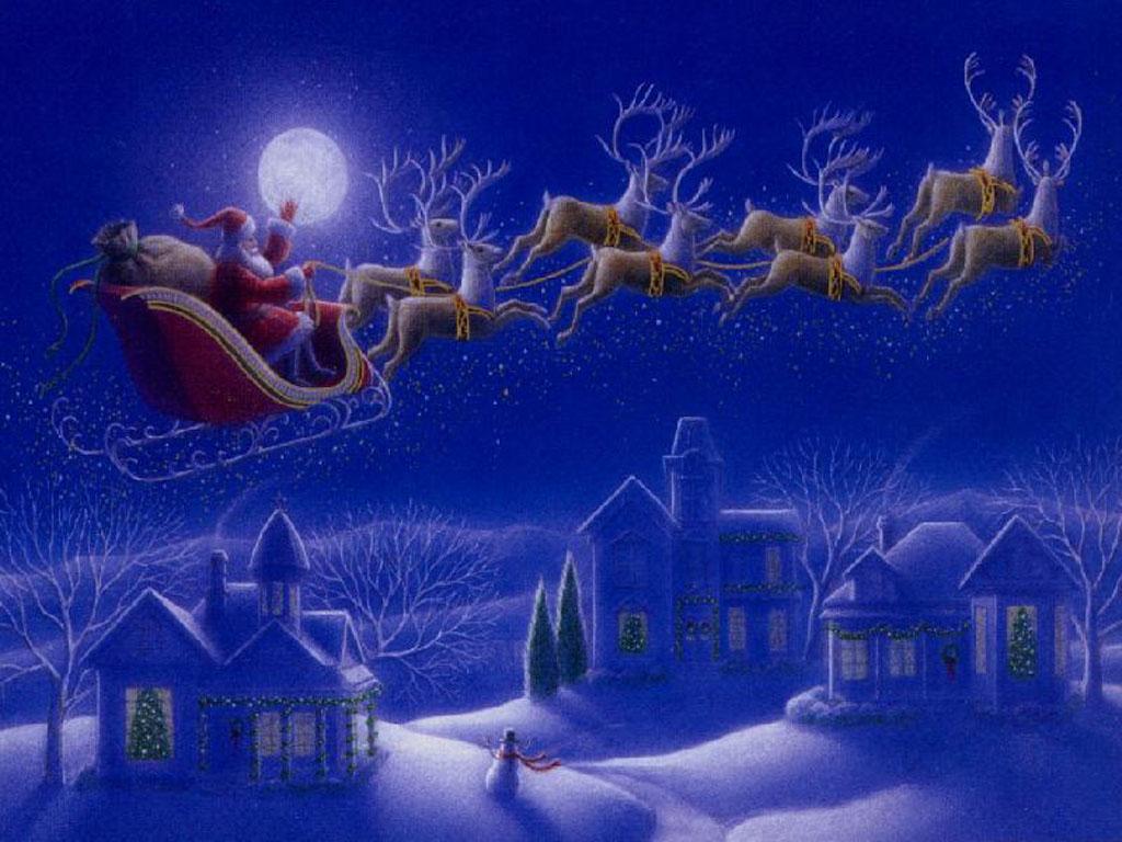 010 vánoční krajina - Christmas landscape
