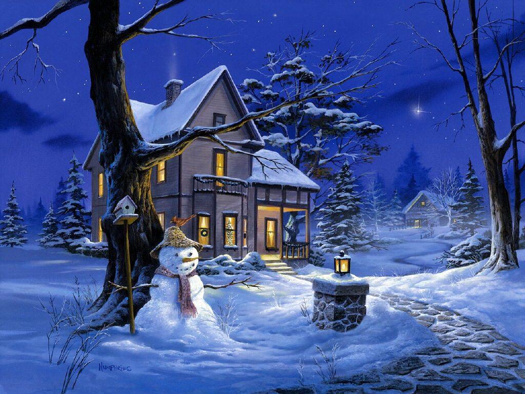 011 vánoční krajina - Christmas landscape