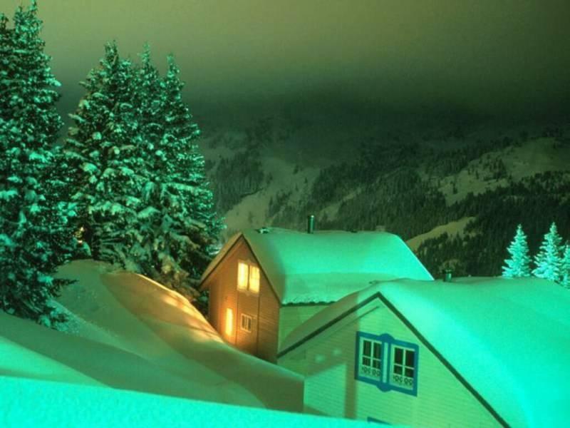 012 vánoční krajina - Christmas landscape